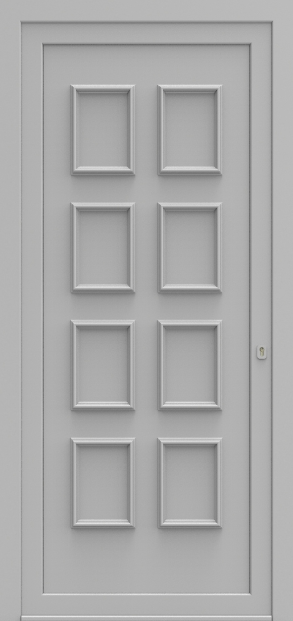 Porte d'entrée 580 VIKTORIA de la gamme Topline posée par les établissements CELEREAU à Roncq