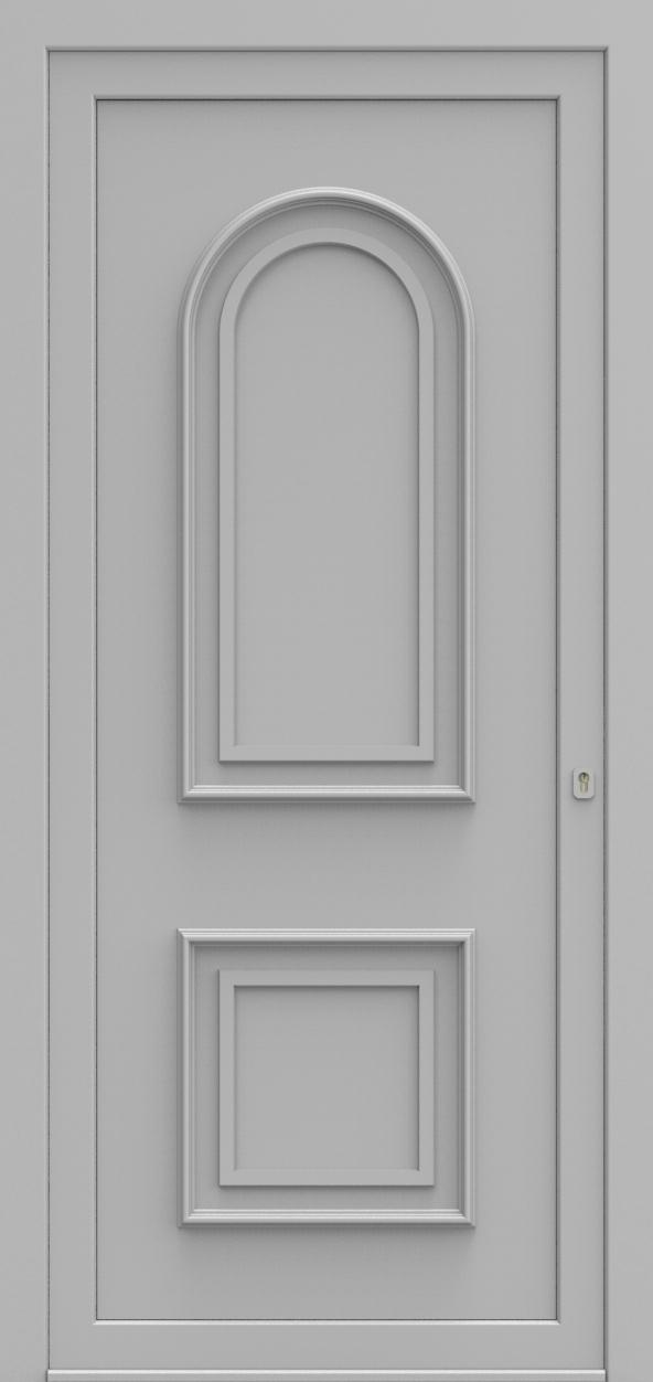 Porte d'entrée 670 PAVERA de la gamme Topline posée par les établissements CELEREAU à Roncq