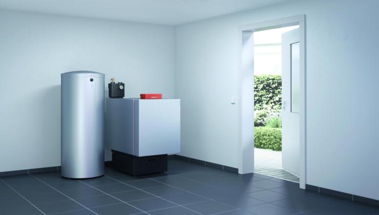 Vitoladens 300-C, de energiezuinige mazoutketel met naaststaande boiler voor sanitair warm water