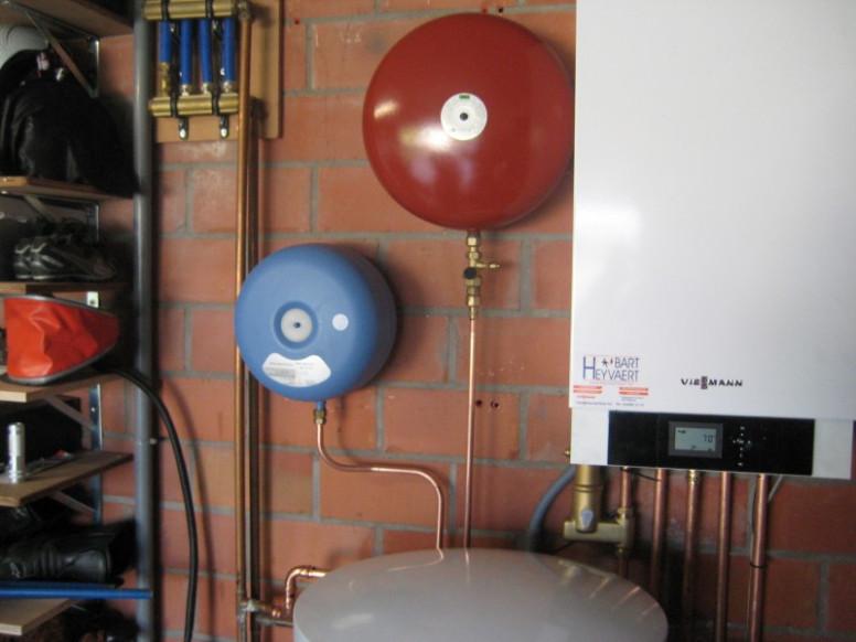 expantievat cv sanitair warm water