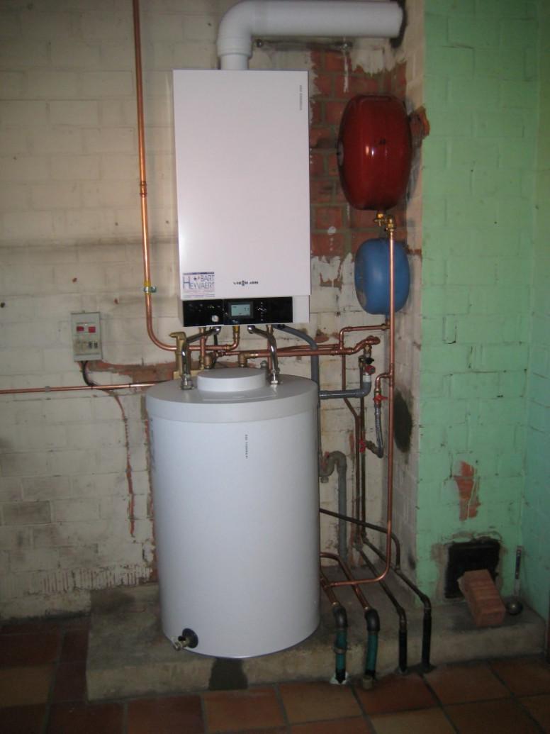 gaswandketel viessmann vitocell vitodens boiler naaststaand sanitair warm water cv