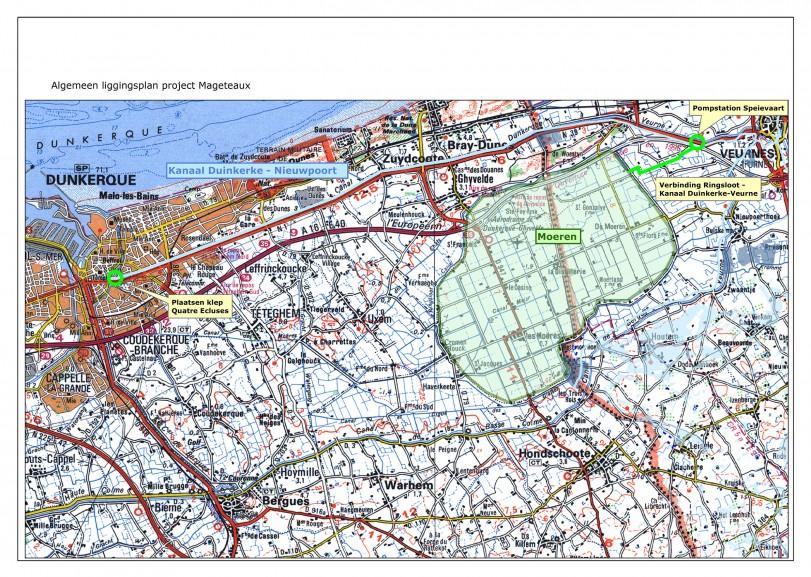 Algemeen liggingsplan project Mageteaux