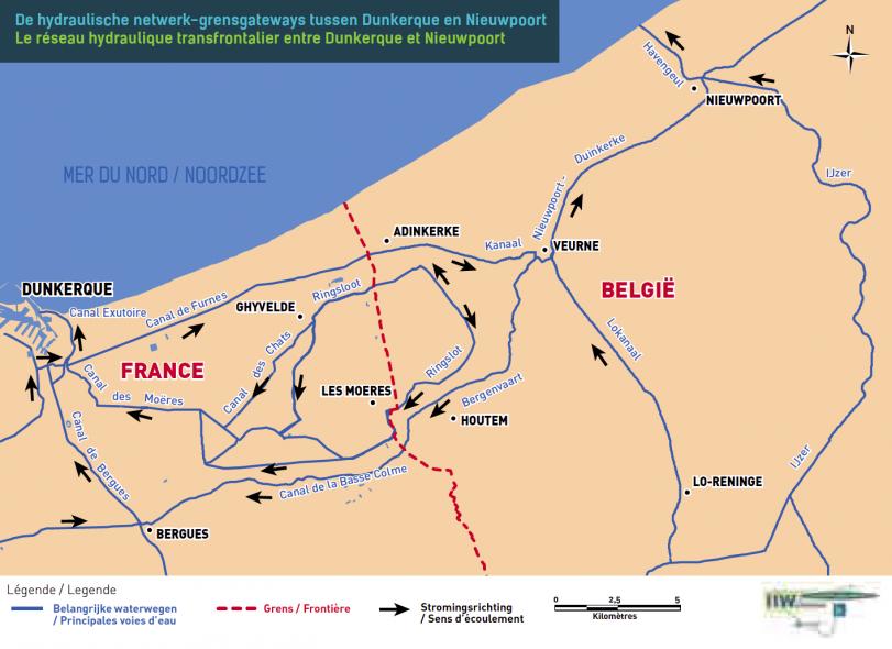 De hydraulische netwerk-grensgateways tussen Duinkerke en Nieuwpoort.png