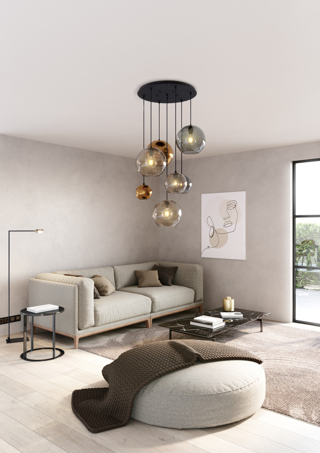PSM_Lampen_SALON LAMP 4 POST
