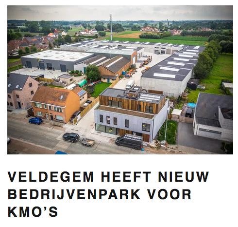 Bedrijfspark met meergezinswoning_Global Estate Veldegem_Claeys Architecten
