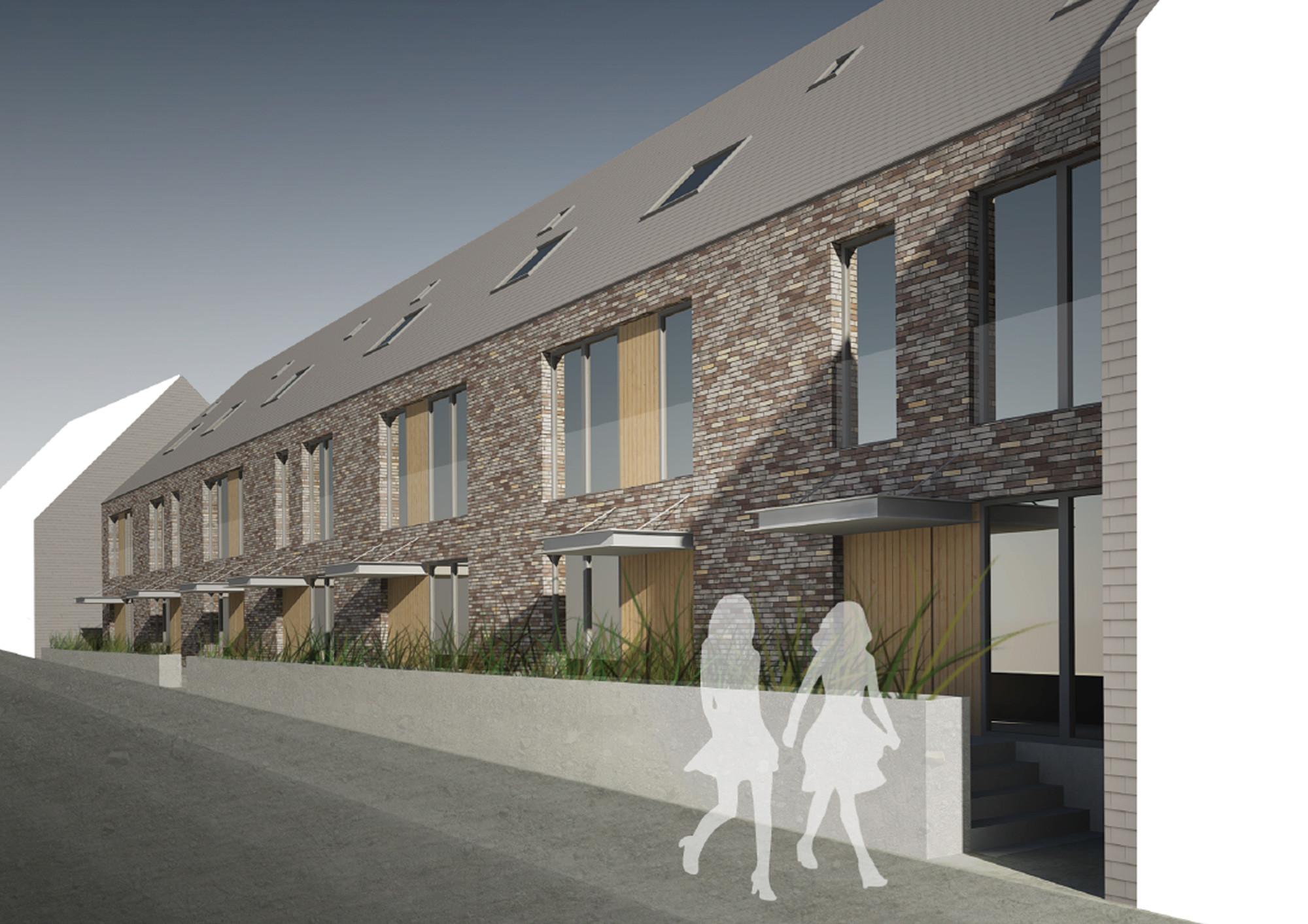 Sociale huisvesting-Rijkswachtkazerne Zonnebeke-Claeys Architecten