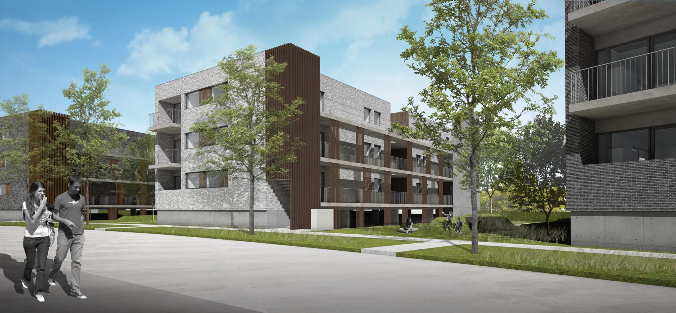 Sociale huisvesting4-Desselgem Vlaslaan-Claeys Architecten