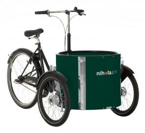 Low_cargo_bike_-_ladcykel_-_green