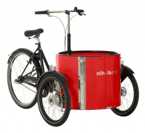 Low_cargo_bike_-_ladcykler_-_red