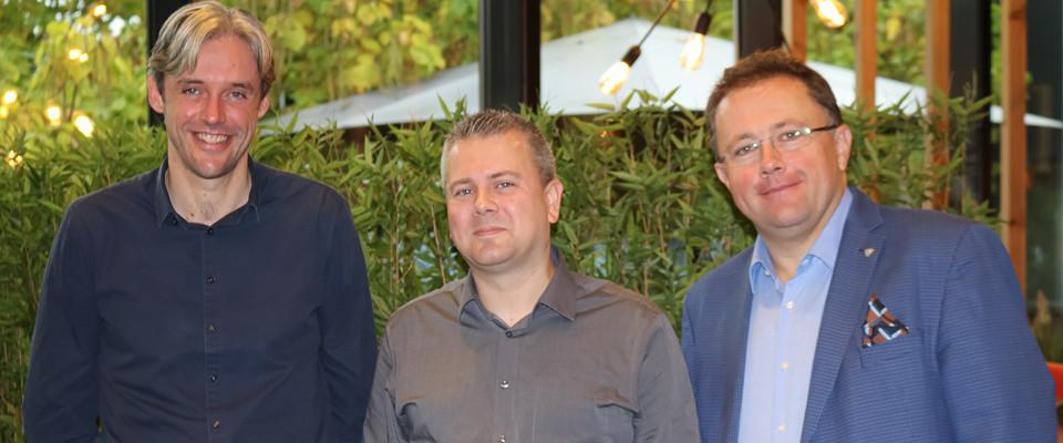 Kris Debacker, Luc Somers en Koen Vanlommel