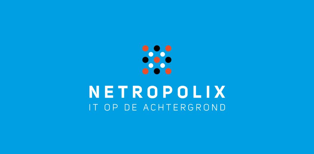 Netropolix logo blauw verticaal