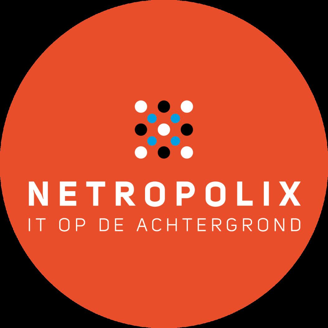 Netropolix logo oranje rond