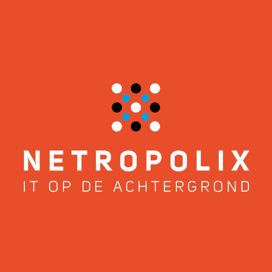 Netropolix logo oranje vierkant