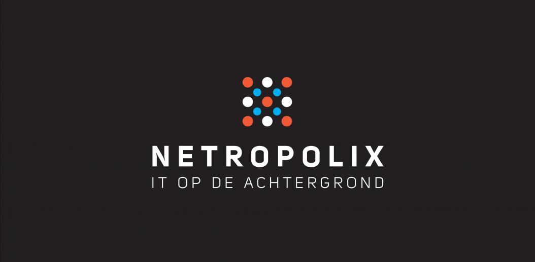 Netropolix Logo Zwart Verticaal