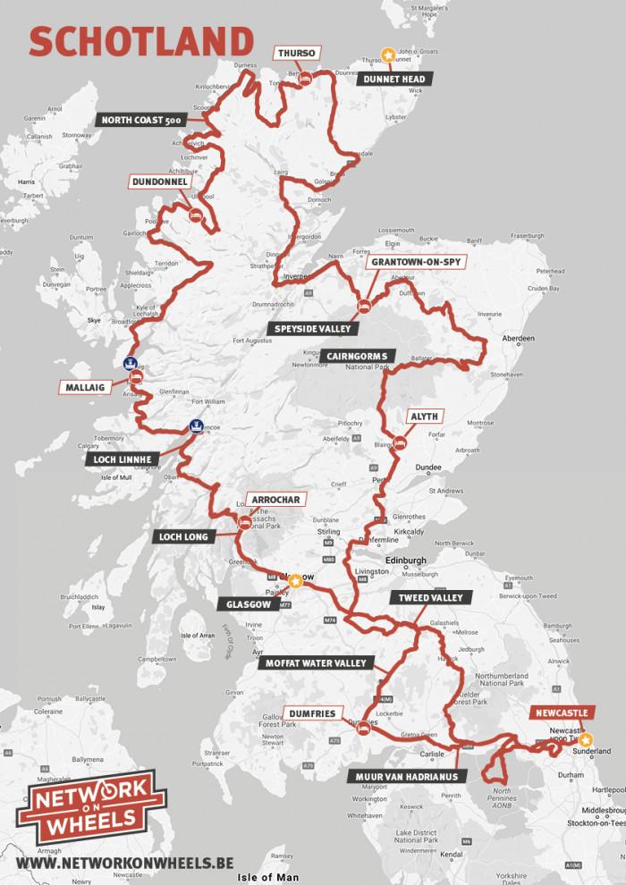 Schotland UITGESTELD NAAR 2022