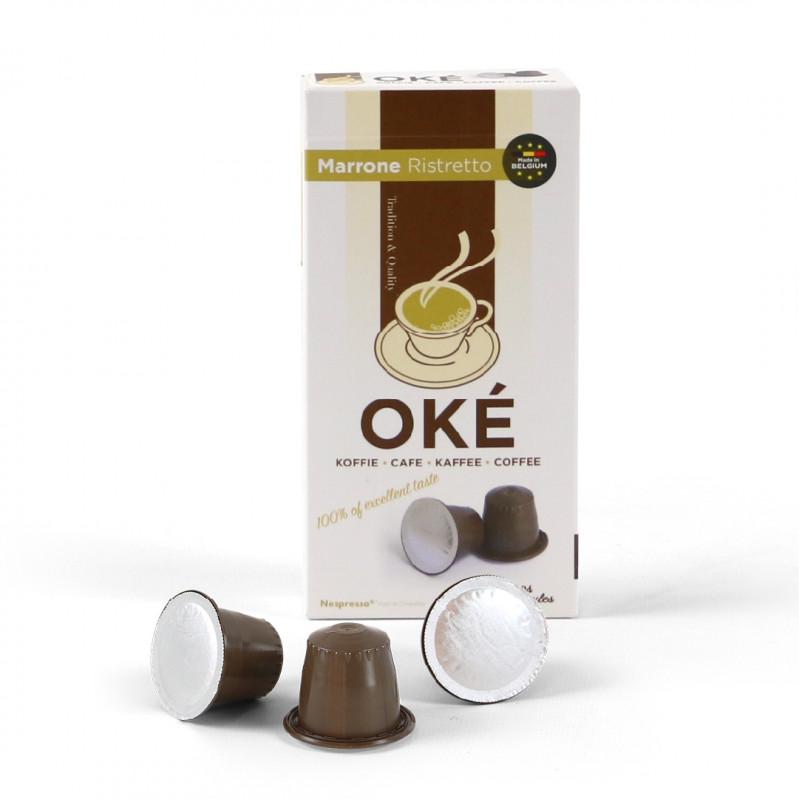 Okékoffie_cups_marrone_ristretto_inhoud