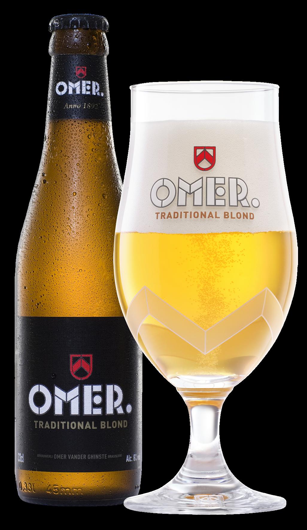 OMER. packshot - bottle + glass 2021 web