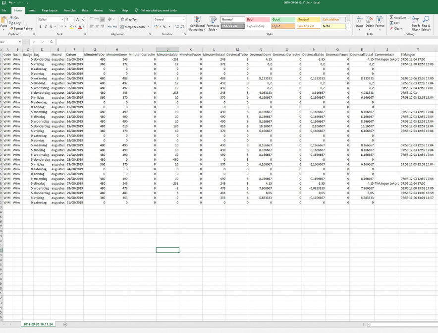 Time_Export_CSV_Excel