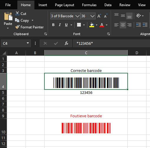 Excel_Code39_Barcode_Sample