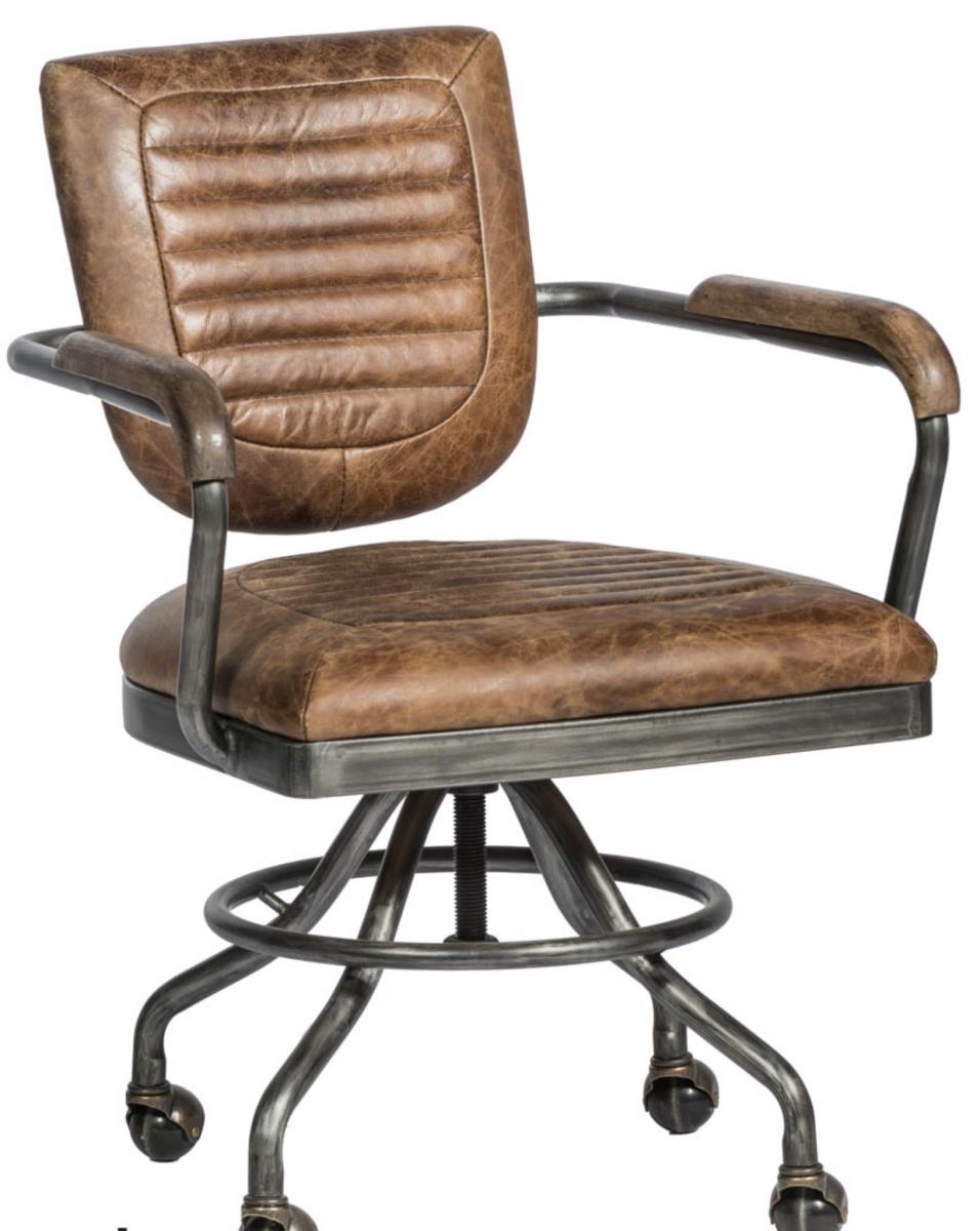 Lederen Bureaustoel Kopen.Vintage Leder Bureaustoel Online Kopen Living Shop