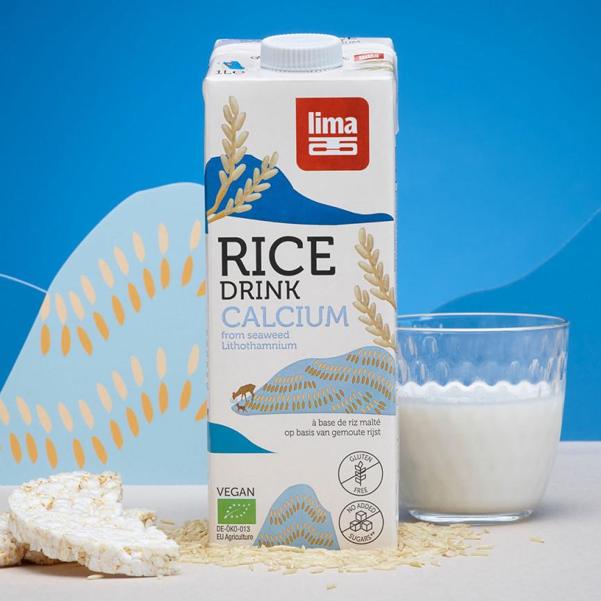 Rice drink calcium