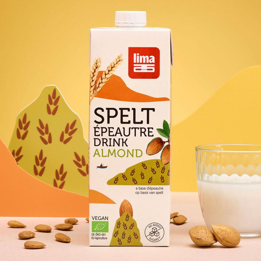 Speltdrink almond