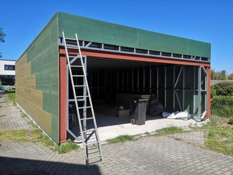 B3 Bouw van garage steelframe Bautil