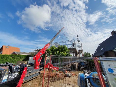 Optopping Oostkamp Steelframe kraan Quicksteel