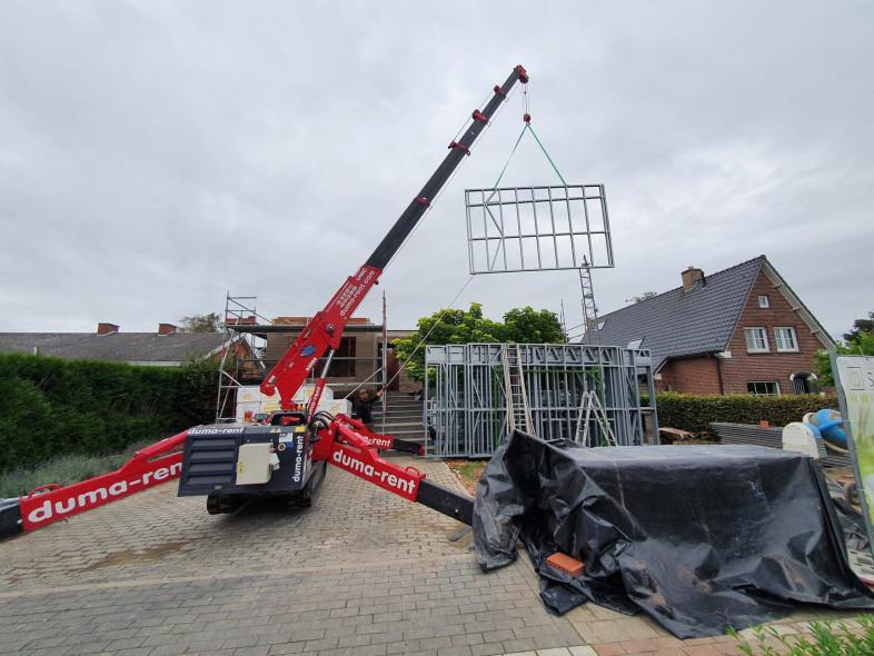 Optopping Oostkamp Steelframe kraan