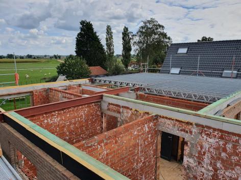 Optopping Oostkamp steelframe vloer