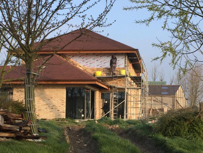 Nieuwbouw Dewicke Steelframe gevelsteen