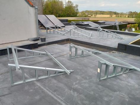 B5 Dewulf-Gullegem Quicksteel steelframe zonnepaneeldragers
