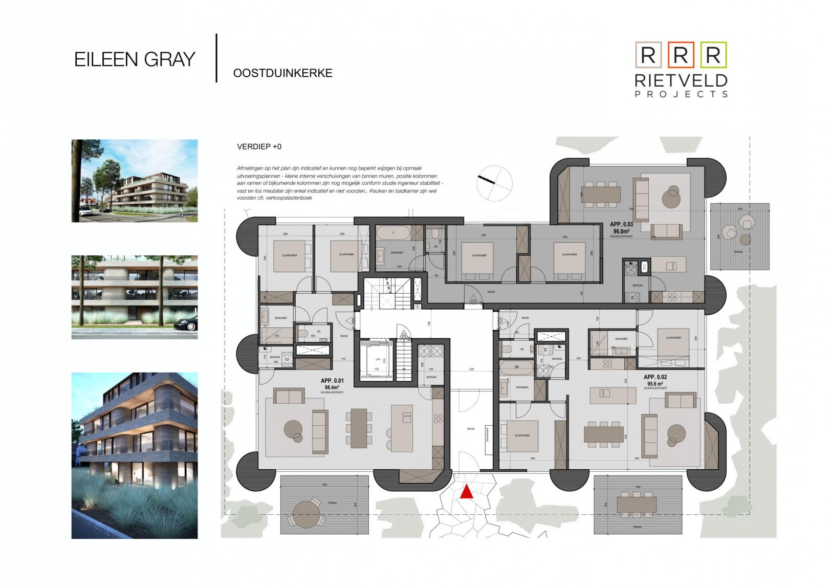 Eileen Gray - Rietveld Projects - Gelijkvloers