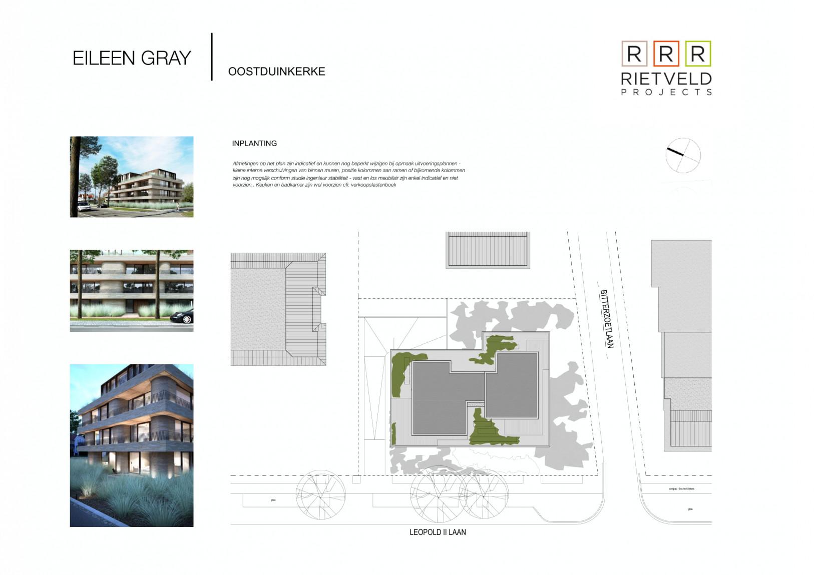 Eileen Gray - Rietveld Projects - Inplantingsplan