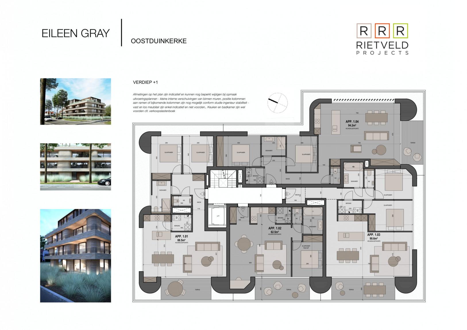 Eileen Gray - Rietveld Projects - Verdiepig 1