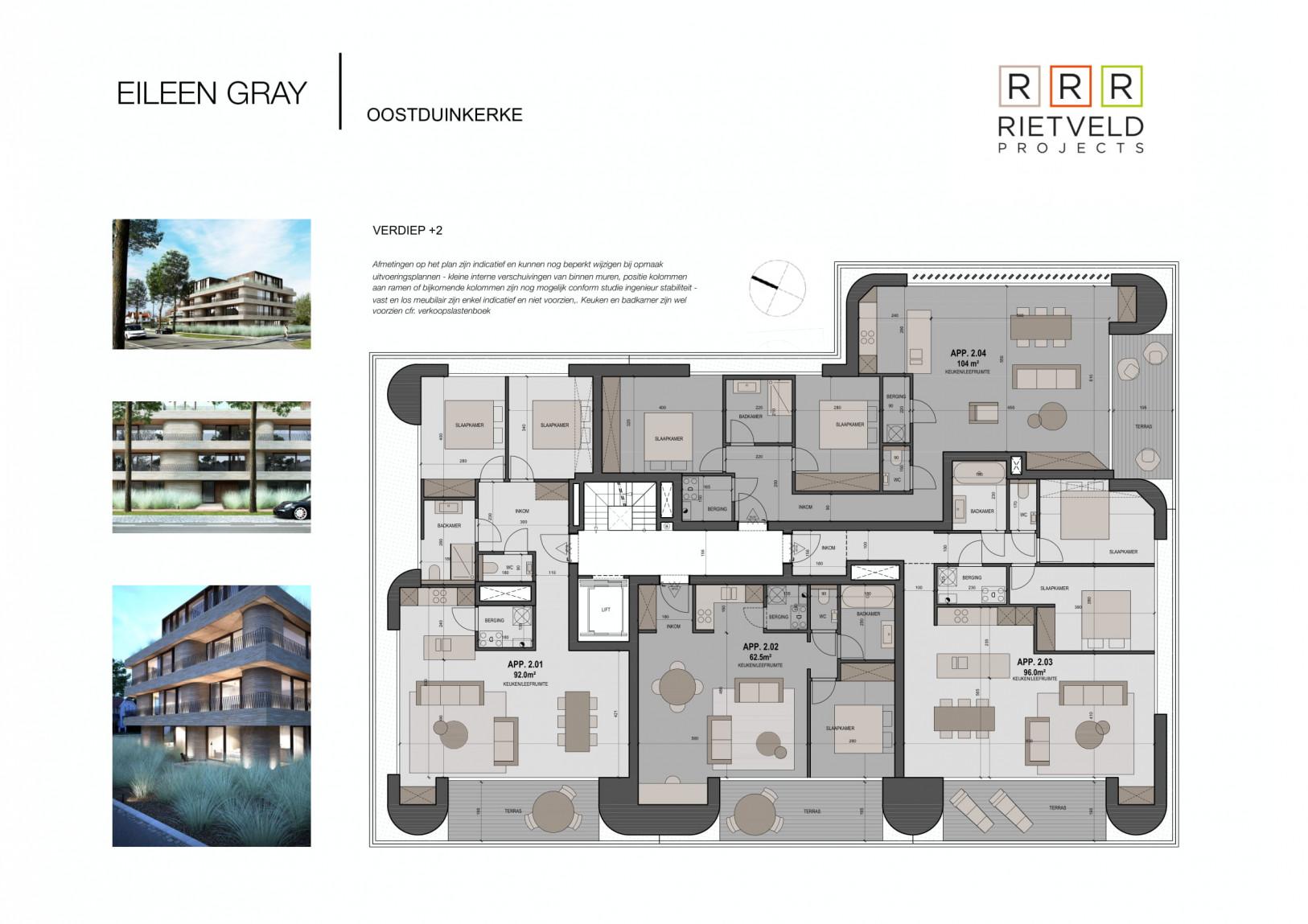 Eileen Gray - Rietveld Projects - Verdiepig 2