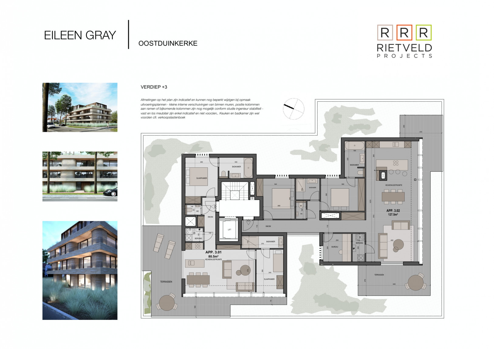 Eileen Gray - Rietveld Projects - Verdiepig 3