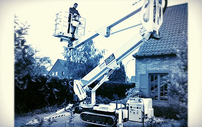 Spider lift work platform