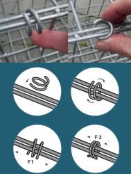 gabions facile à monter avec des crampons