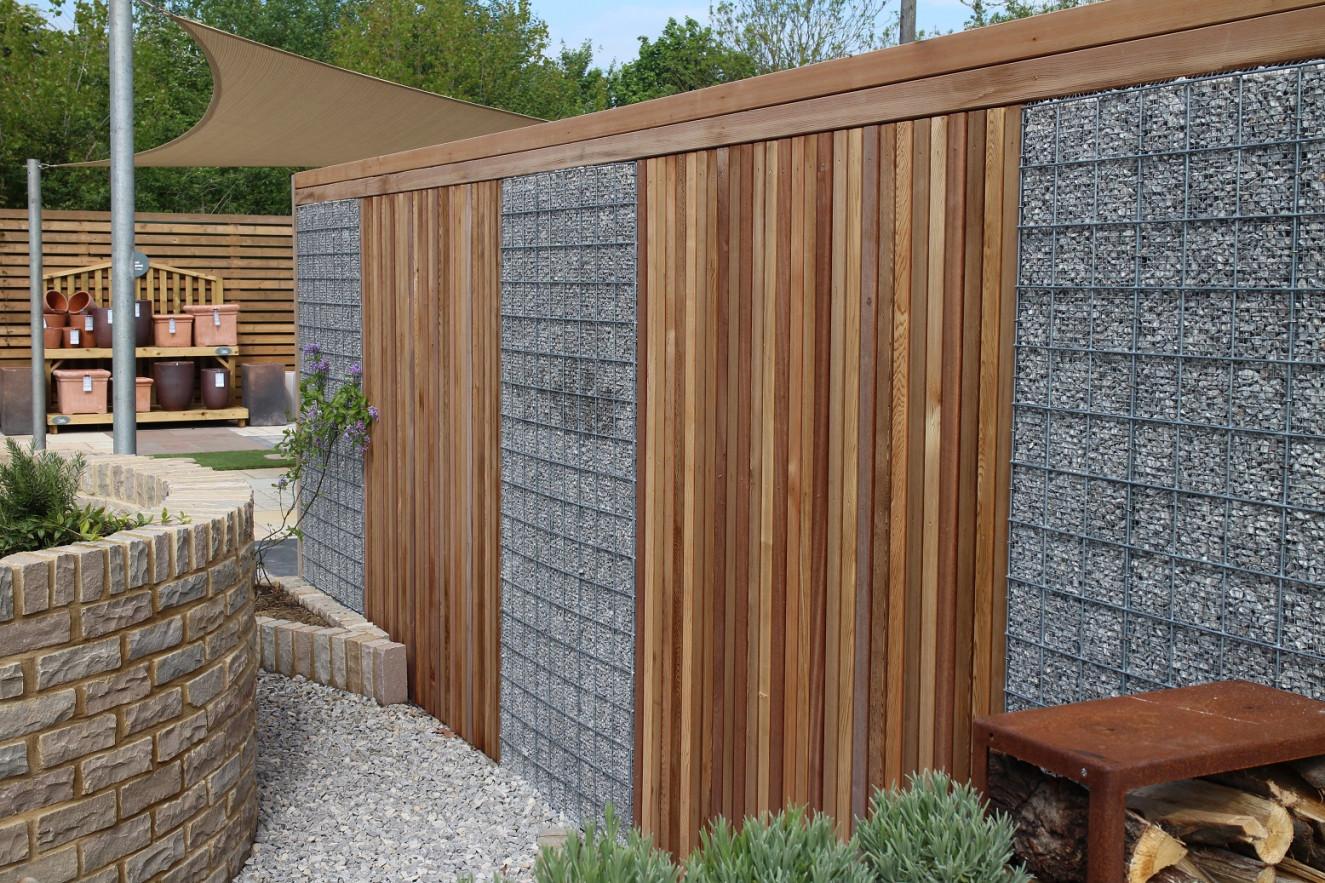 Element Gabionen-Gartengestaltung