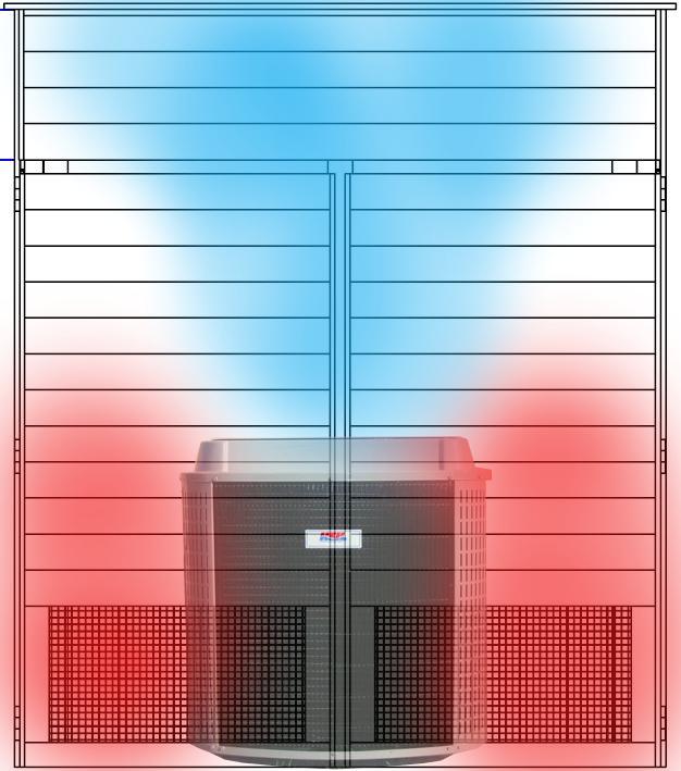 drawing air flow heat pump kit
