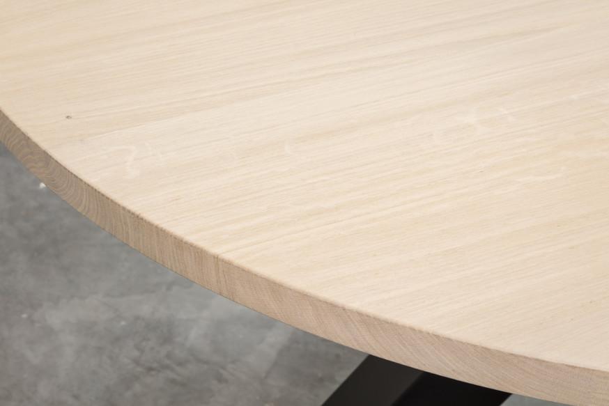 STEELIT - TAFEL - afwerking tafelblad - EIK - 01