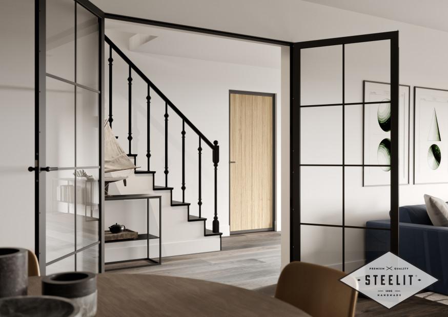 STEELIT® wood prime 1 HR donker vloer.vol logo