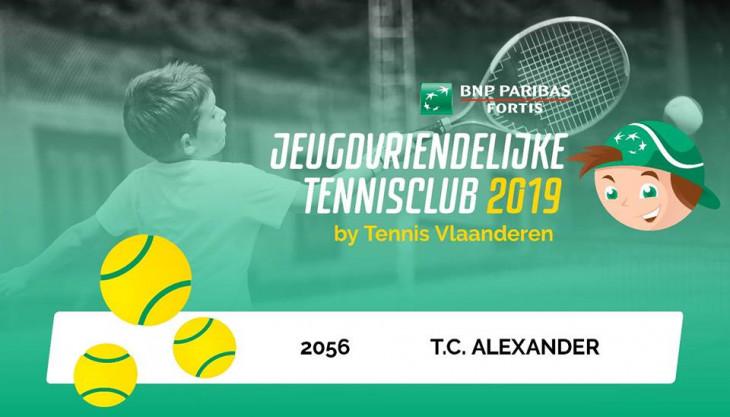 jeugdvriendelijke tennisclub 2018