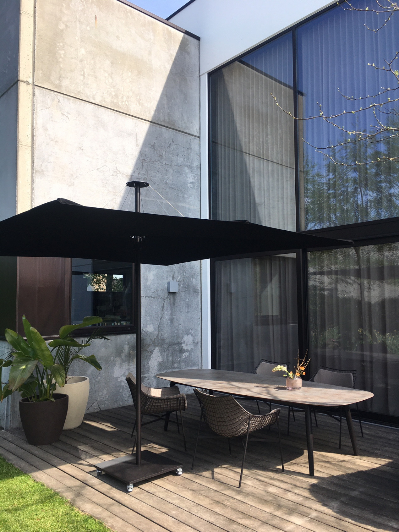 Infina garden parasol Dusk 2,5x2,5m