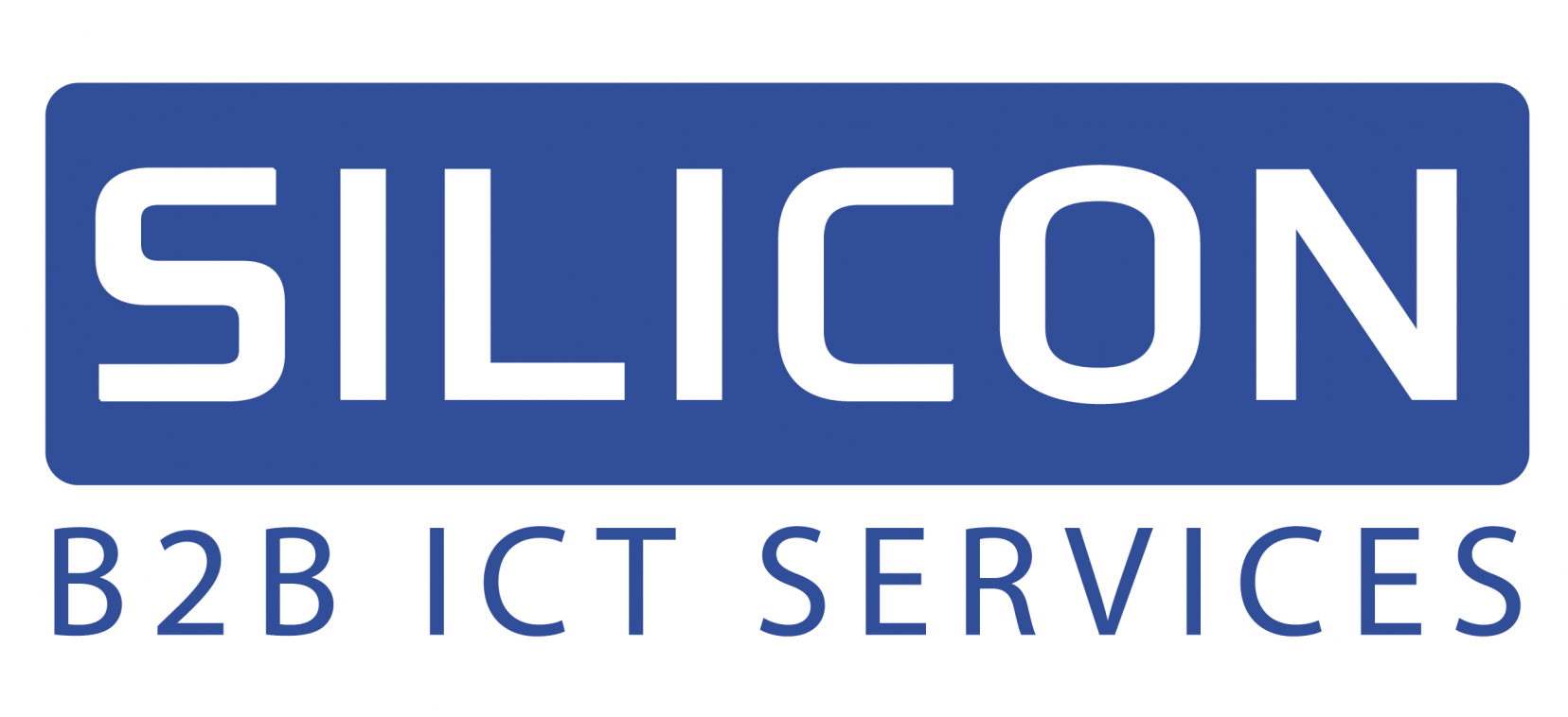 Silicon Logo 2018 B2B ICT blauw wit - Hires.png