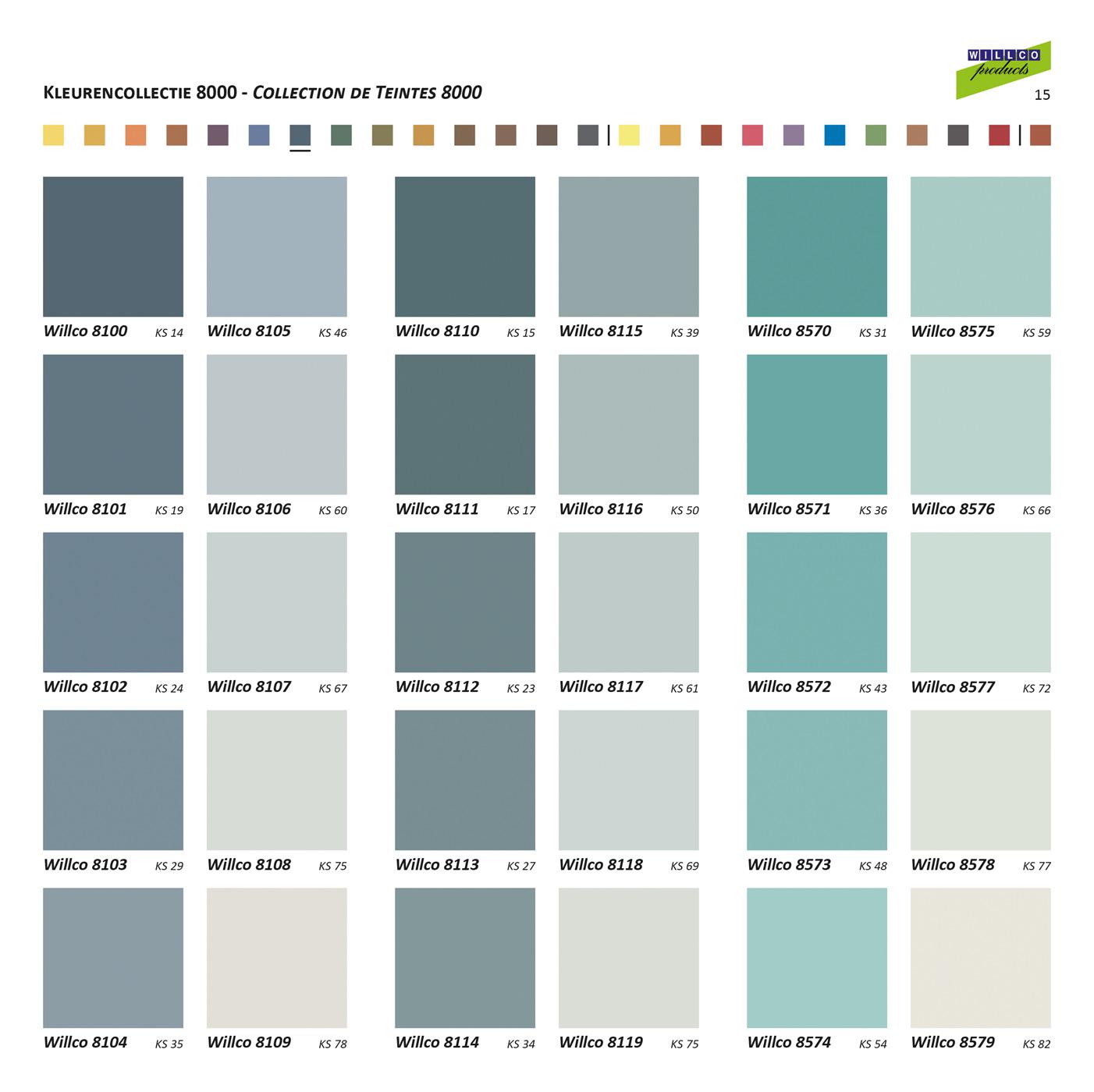 Digitale kleurenkaart