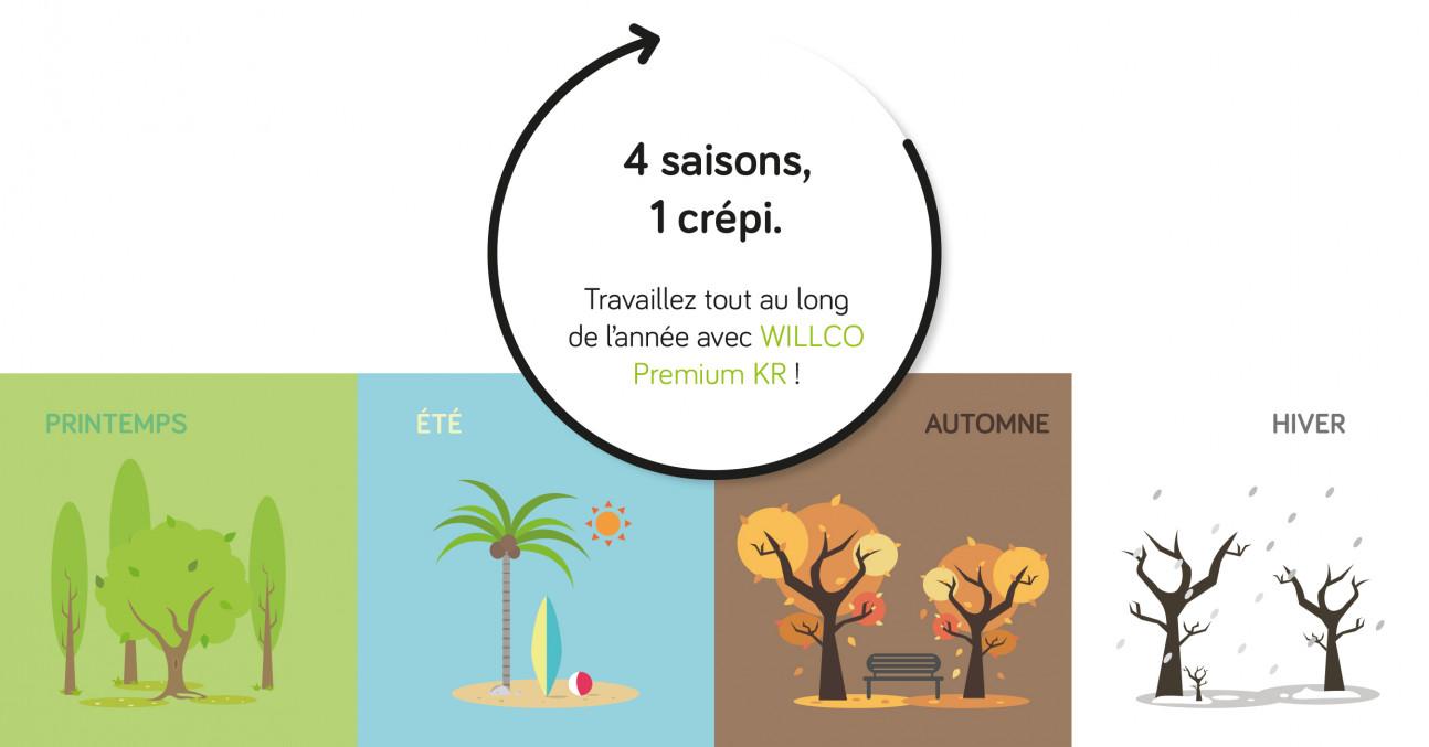 WILLCO Premium KR, le roi de tous les crépis ! Willco Premium - 4 seizoenen.jpg
