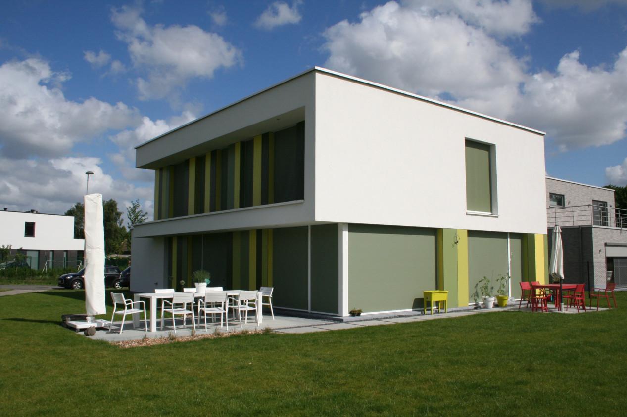 Benieuwd hoe een 100% Willco Products gevel eruitziet? Modern huis met witte crepi - 01.jpg